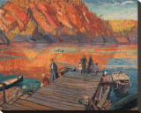 Bon Echo Stretched Canvas Print by Arthur Lismer