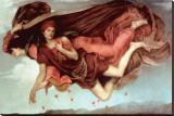Night and Sleep Stretched Canvas Print by Evelyn De Morgan