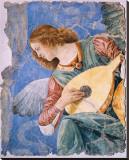 Angelo Musicante Kunstdruk op gespannen doek van  Melozzo da Forlí