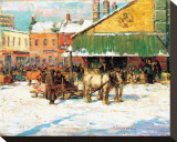 Byward Market, Ottawa Reproduction transf&#233;r&#233;e sur toile par Franklin Brownell