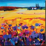 Quiet of the Pasture Impressão em tela esticada por Maya Green