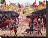 Froissart's Chronicles: Battle of Najera, 1340 Stretched Canvas Print