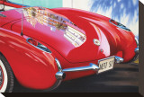 1957 Corvette Stretched Canvas Print by Graham Reynolds