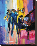 Jazz for Lovers Stretched Canvas Print by Maya Green