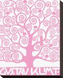 Pink Tree of Life Trykk på strukket lerret av Gustav Klimt