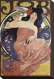 JOB Stretched Canvas Print by Alphonse Mucha