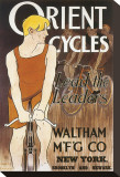 Orient Cycles Stretched Canvas Print by Edward Penfield