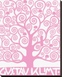 Pink Tree of Life Reproduction transf&#233;r&#233;e sur toile par Gustav Klimt