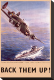 Back Them Up! Capture of a Submarine by a Lockheed Hudson Stretched Canvas Print