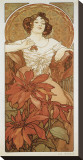 The Precious Stones: Le Rubis Stretched Canvas Print by Alphonse Mucha