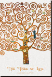 The Tree of Life Pastiche Marzipan Stretched Canvas Print by Gustav Klimt