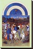 Les Riches Heures du Duc de Berry, Mai Stretched Canvas Print
