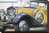 1934 Rolls Royce Phantom II Stretched Canvas Print by Graham Reynolds