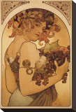Le Fruit Stretched Canvas Print by Alphonse Mucha