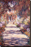 Monets Garten in Giverny Leinwand von Claude Monet