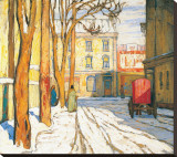 Toronto Street, Winter Morning Stretched Canvas Print by Lawren S. Harris