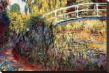 日本の橋 キャンバスプリント : クロード・モネ