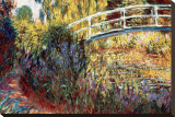 Le Pont Japonais Stretched Canvas Print by Claude Monet
