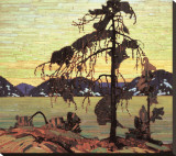 Le pin gris Reproduction transférée sur toile par Tom Thomson