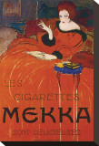 Les Cigarettes Mekka Stretched Canvas Print by Charles Loupot
