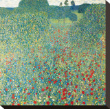 Poppy Meadow, c.1907 Stretched Canvas Print by Gustav Klimt