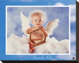 Heavenly Kids, Harp Reproduction transférée sur toile par Tom Arma