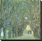 Avenue Before Room, Schlob Park, c.1912 Stretched Canvas Print by Gustav Klimt