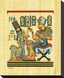 Tutankhamun and His Wife Stretched Canvas Print