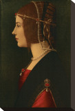 Beatrice d'Este Stretched Canvas Print by Leonardo da Vinci