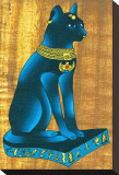 Cat-Headed Goddess Bastet Stretched Canvas Print