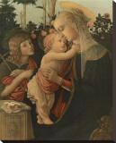 La Vierge avec l'Enfant et St. Jean Stretched Canvas Print by Sandro Botticelli