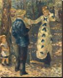 La Balancoire Reproduction transférée sur toile par Pierre-Auguste Renoir