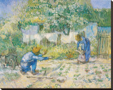 Vincent van Gogh - First Steps, c.1890 - Şasili Gerilmiş Tuvale Reprodüksiyon