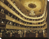 The Auditorium of the Old Castle Theatre, Vienna Stretched Canvas Print by Auguste Macke
