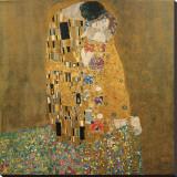 Kysset, ca. 1907 Trykk på strukket lerret av Gustav Klimt