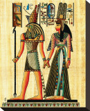 Horus and Nefertiti Stretched Canvas Print