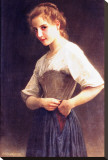 Young Girls Dressing Stretched Canvas Print by William Adolphe Bouguereau