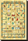 Hieroglyphic Transliteration Stretched Canvas Print