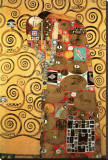 The Fulfillment (detail) Stretched Canvas Print by Gustav Klimt