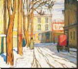 Toronto Street, Winter Morning Trykk på strukket lerret av Lawren S. Harris
