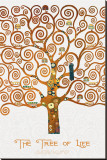 The Tree of Life Pastiche Marzipan Reproduction transférée sur toile par Gustav Klimt
