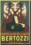Parmigiano Reggiano Bertozzi Stretched Canvas Print by Achille Luciano Mauzan