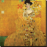 Gustav Klimt - Portrait of Adele Bloch-Bauer I, c.1907 - Şasili Gerilmiş Tuvale Reprodüksiyon