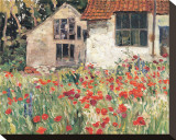 Studio at Etaples Stretched Canvas Print by A. Y. Jackson