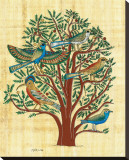 Tree with Sacred Birds Reproduction transférée sur toile