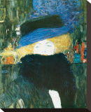 Lady with Hat and Feather Boa, c.1909 Stretched Canvas Print by Gustav Klimt