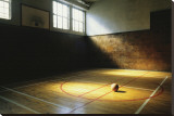 Basketball Court Stretched Canvas Print