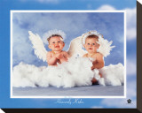 Heavenly Kids, Two Angels Reproduction transférée sur toile par Tom Arma