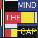 Mind The Gap Stretched Canvas Print by Max Carter
