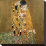 El beso, c.1907 Reproducción de lámina sobre lienzo por Gustav Klimt